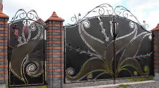 кованые ворота сварные распашные