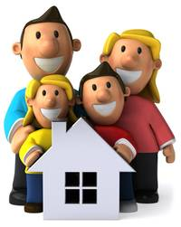 веселый дом, семья