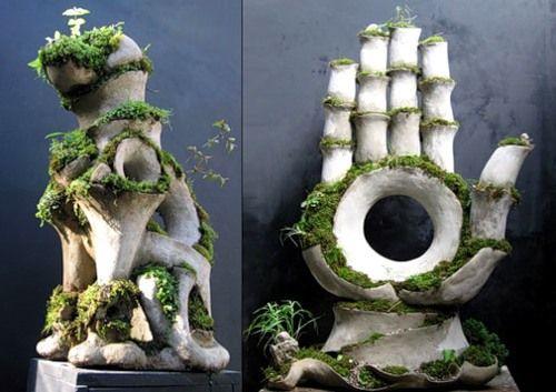 Каменные скульптуры садовые